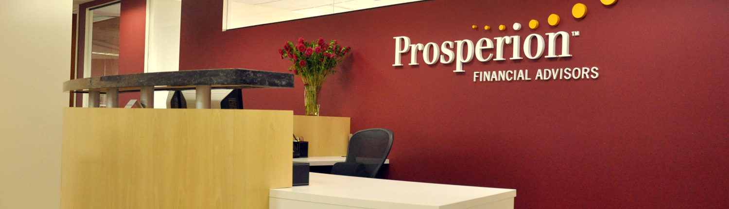 The front office of Prosperion Financial Advisors